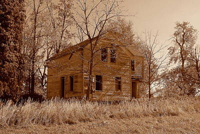 Photograph - Sepiabandoned by Claude Oesterreicher