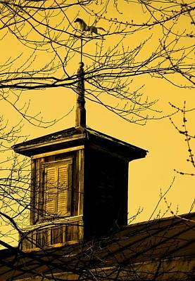 Weathervane Photograph - Sepiatone Cupola by Debbie Finley