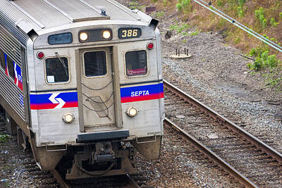 Photograph - Septa Train by Chris Reed