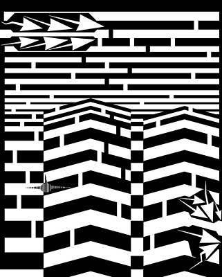11th Digital Art - September 11th Maze by Yanito Freminoshi