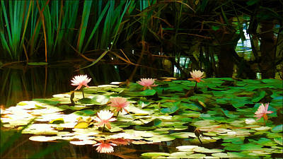 Lilly Pond Painting - September Afternoon by Douglas MooreZart