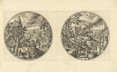 September And October, Adriaen Collaert, Hans Bol Art Print by Adriaen Collaert And Hans Bol And Hans Van Luyck