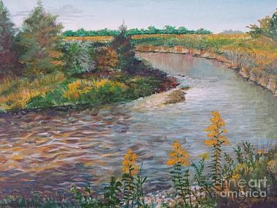 Painting - September At Creekside by J Anthony Shuff