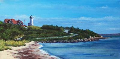 Cape Cod Painting - September At Nobska by Candice Ronesi