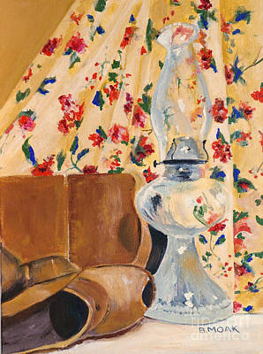 Gas Lamp Painting - September Breeze by Barbara Moak