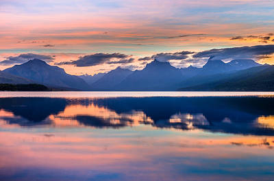 Photograph - September Dawn On Lake Mcdonald by Greg Nyquist
