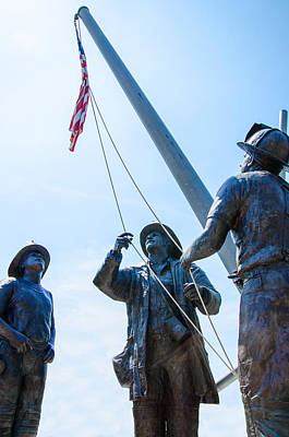 Photograph - September Eleventh Firefighter Memorial  by Susan McMenamin