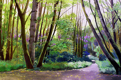 Painting - September In Springbrook Park by Melody Cleary