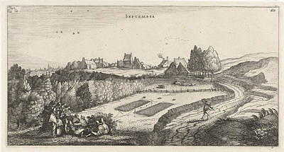 Finch Drawing - September, Jan Van De Velde II by Jan Van De Velde (ii)