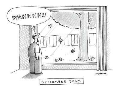 Autumn Drawing - September Song by Mick Stevens
