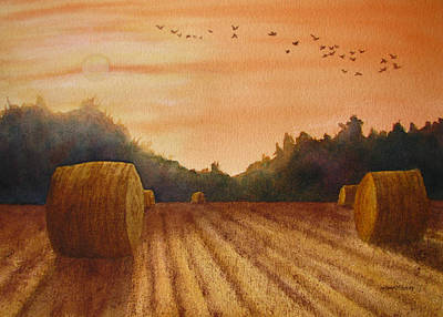 Wall Art - Painting - September Sundown by Linda McCallum