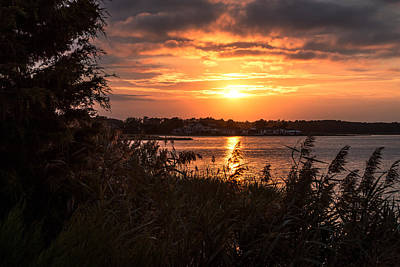 Classic Christmas Movies - September Sunset at Dirickson Creek by Bill Swartwout