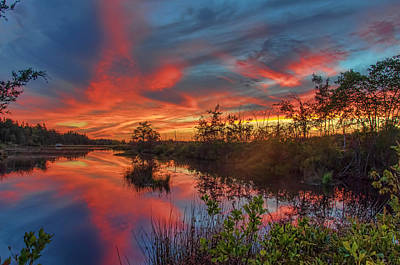 Photograph - September Sunset Reflection by Beth Sawickie