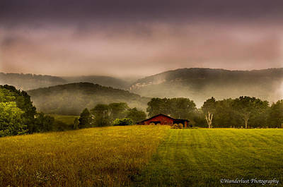 Photograph - Sequatchie Vally Red Barn by Paul Herrmann