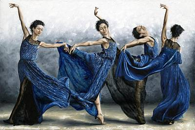 Sequential Dancer Art Print by Richard Young