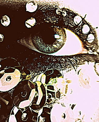 Sequined Eye Art Print by Mlle Marquee