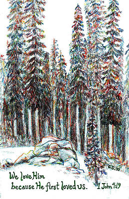 Biblical Painting - Sequoia by Catherine Saldana