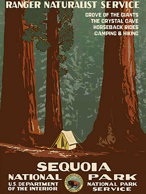 Advertisment Painting - Sequoia National Park by Vintage Printery