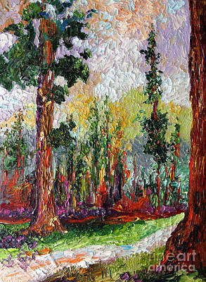 Sequoia Painting - Sequoia Path National Parks  by Ginette Callaway