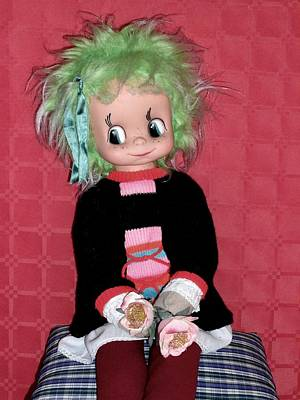 Candy Candy Doll Photograph - Serafina By Migliorati Italy Vintage Rare Doll by Donatella Muggianu