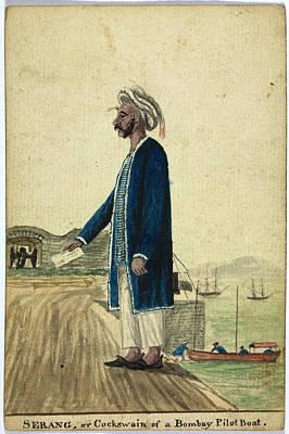 Bombay Photograph - Serang Of A Bombay Pilot Boat by British Library