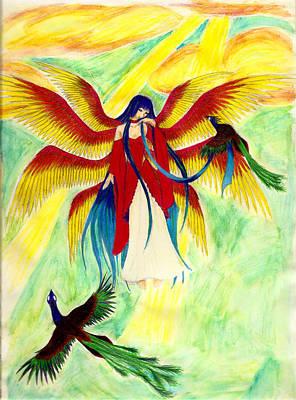 Seraphim Angel Drawing - Seraphim by Kaleigh Civis