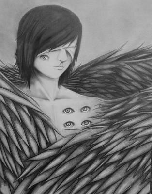 Seraphim Angel Drawing - Seraphim by Rachel Hayes