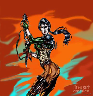 Gay Fantasy Drawing - Serasa by Steven Lamm