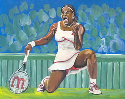 Serena Williams Painting - Serena Williams 02 by Emmanuel Baliyanga