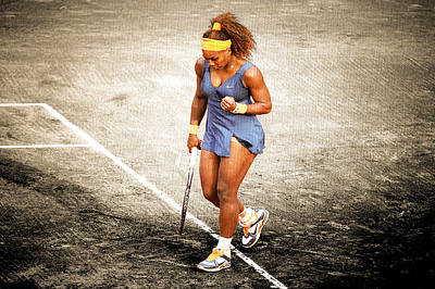 Serena Williams Photograph - Serena Williams Count It by Brian Reaves
