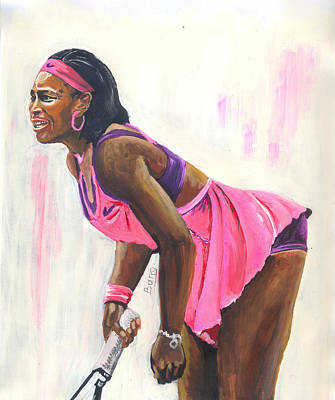 Serena Williams Painting - Serena Williams by Emmanuel Baliyanga