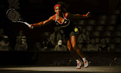 Serena Williams Photograph - Serena Williams Grace by Brian Reaves