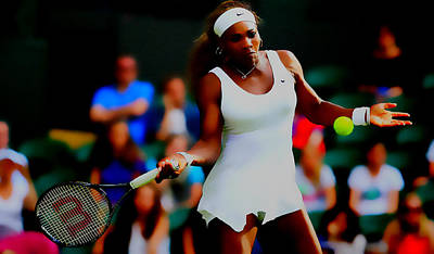 Emerson Digital Art - Serena Williams Making It Look Easy by Brian Reaves