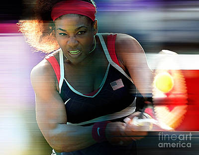 Serena Williams Art Print by Marvin Blaine