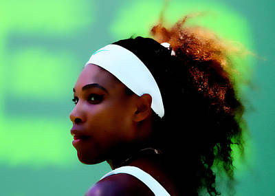Venus Williams Digital Art - Serena Williams Match Point by Brian Reaves