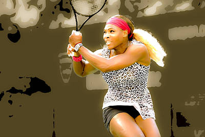 Serena Williams Digital Art - Serena Williams Standing Out by Brian Reaves