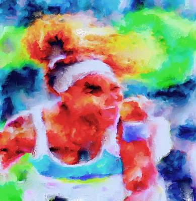 Serena Williams Painting - Serena Williams Yes by Brian Reaves