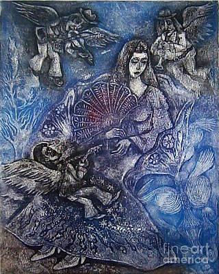 Girl Drawing - Serenade by Milen Litchkov
