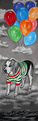 Puppies Mixed Media - Serendipity by Courtney Kenny Porto