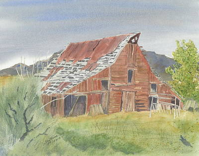 Painting - Serendipity - Old Barn In Mackay by Joel Deutsch