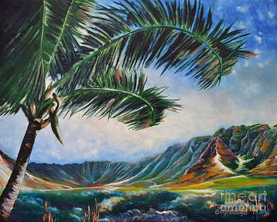 Serene Beauty Of Makua Valley Art Print