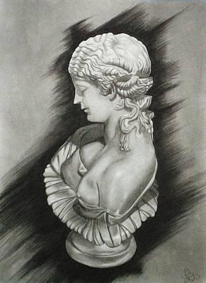Beth Dennis Drawing - Serene by Beth Dennis