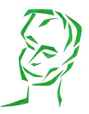 Serene Face Art Print by Delin Colon