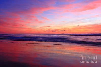 Serene Oceanside Glow Art Print