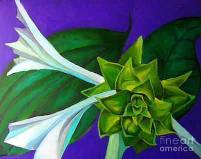 Painting - Serene Green One by Grace Liberator