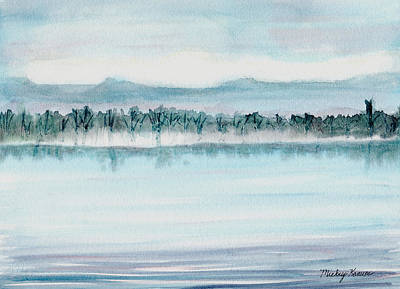 Painting - Serene Lake View by Mickey Krause