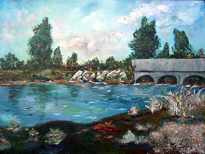 Serene River Original by Gail Daley