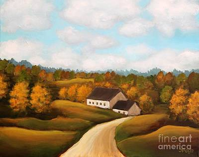 Painting - Serene Rural Scene by Inese Poga