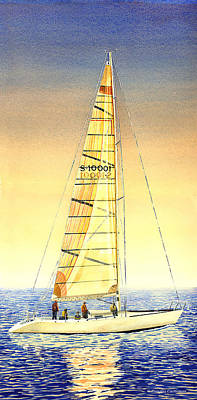 Painting - Serene Sail by Douglas Castleman