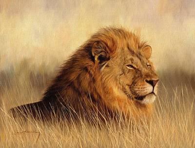 Animals Paintings - Serengeti Glow by David Stribbling